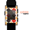 The Gold & Red Abstract Seamless Pattern V5 Skin for the Pebble SmartWatch