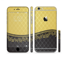 The Gold and Black Luxury Pattern Sectioned Skin Series for the Apple iPhone 6s