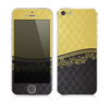 The Gold and Black Luxury Pattern Skin for the Apple iPhone 5s