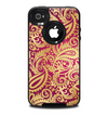 The Gold and Red Paisley Pattern Skin for the iPhone 4-4s OtterBox Commuter Case