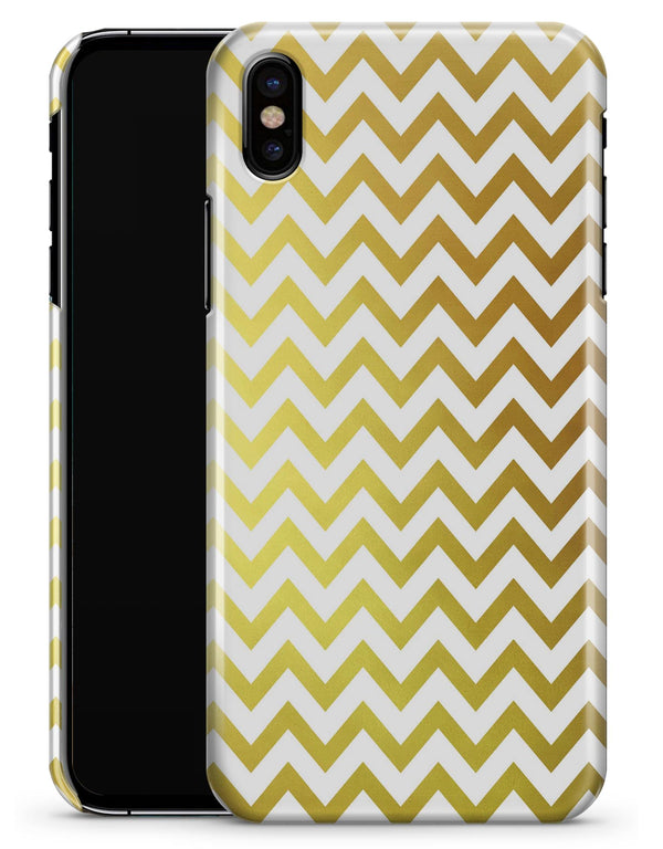 The Gold and White Chevron Pattern - iPhone X Clipit Case