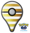 The Gold and White Horizontal Stripes Pokémon GO Plus Vinyl Protective Decal Skin Kit