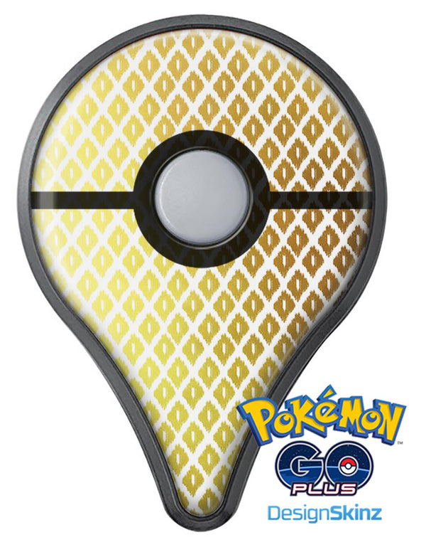 The Gold and White Marked Diamond Pattern Pokémon GO Plus Vinyl Protective Decal Skin Kit