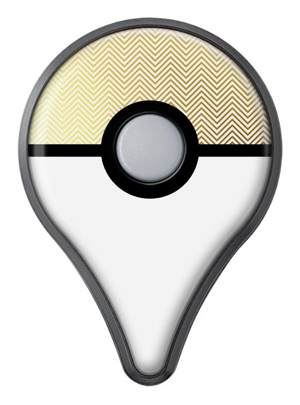 The Gold and White Micro Chevron Pattern Pokémon GO Plus Vinyl Protective Decal Skin Kit