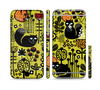 The Gold vector Fat Cat Illustration Sectioned Skin Series for the Apple iPhone 6 Plus