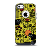 The Gold vector Fat Cat Illustration Skin for the iPhone 5c OtterBox Commuter Case