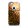The Golden Abstract Tiled Skin for the iPhone 5c OtterBox Commuter Case