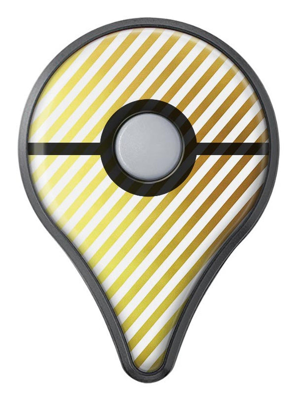The Golden Diagonal Stripes Pokémon GO Plus Vinyl Protective Decal Skin Kit