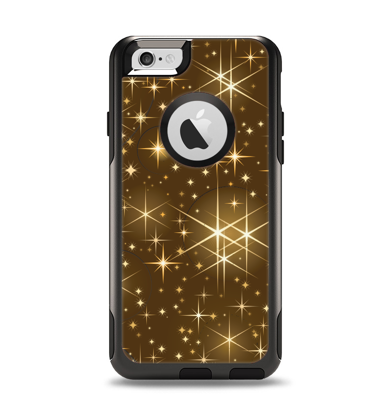 The Golden Glowing Stars Apple iPhone 6 Otterbox Commuter Case Skin Set