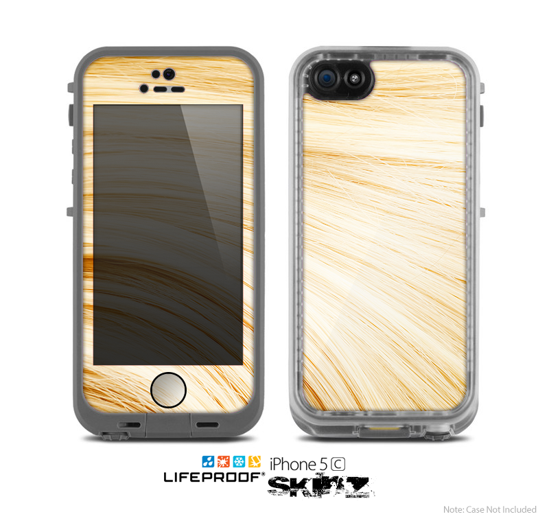 The Golden Hair Strands Skin for the Apple iPhone 5c LifeProof Case