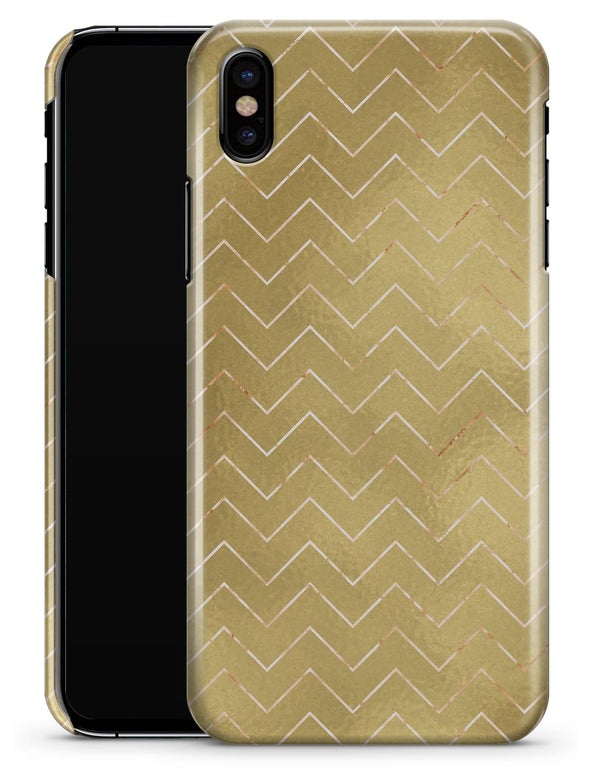 The Golden Surface with White Chevron - iPhone X Clipit Case