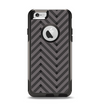 The Gray & Black Sketch Chevron Apple iPhone 6 Otterbox Commuter Case Skin Set