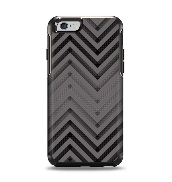 The Gray & Black Sketch Chevron Apple iPhone 6 Otterbox Symmetry Case Skin Set