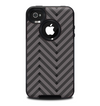 The Gray & Black Sketch Chevron Skin for the iPhone 4-4s OtterBox Commuter Case