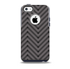 The Gray & Black Sketch Chevron Skin for the iPhone 5c OtterBox Commuter Case