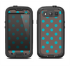 The Gray & Blue Polka Dot Samsung Galaxy S4 LifeProof Fre Case Skin Set