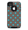 The Gray & Blue Polka Dot Skin for the iPhone 4-4s OtterBox Commuter Case