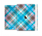 The Gray & Bright Blue Plaid Layered Pattern V5 Skin Set for the Apple iPad Pro