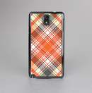 The Gray & Bright Orange Plaid Layered Pattern V5 Skin-Sert Case for the Samsung Galaxy Note 3