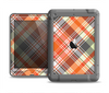 The Gray & Bright Orange Plaid Layered Pattern V5 Apple iPad Air LifeProof Nuud Case Skin Set