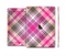 The Gray & Bright Pink Plaid Layered Pattern V5 Skin Set for the Apple iPad Pro