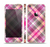 The Gray & Bright Pink Plaid Layered Pattern V5 Skin Set for the Apple iPhone 5s