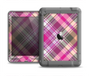 The Gray & Bright Pink Plaid Layered Pattern V5 Apple iPad Air LifeProof Nuud Case Skin Set