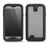 The Gray Carbon FIber Pattern Samsung Galaxy S4 LifeProof Nuud Case Skin Set