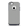 The Gray Carbon FIber Pattern Skin for the iPhone 5c OtterBox Commuter Case