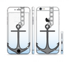 The Gray Chained Anchor Sectioned Skin Series for the Apple iPhone 6