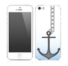 The Gray Chained Anchor Skin for the Apple iPhone 5s