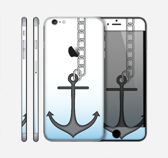 The Gray Chained Anchor Skin for the Apple iPhone 6 Plus