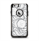 The Gray Floral Pattern V3 Apple iPhone 6 Otterbox Commuter Case Skin Set