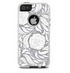 The Gray Floral Pattern V3 Skin For The iPhone 5-5s Otterbox Commuter Case