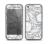 The Gray Floral Pattern V3 Skin Set for the iPhone 5-5s Skech Glow Case