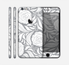 The Gray Floral Pattern V3 Skin for the Apple iPhone 6 Plus
