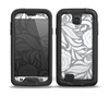 The Gray Floral Pattern V3 Skin for the Samsung Galaxy S4 frē LifeProof Case