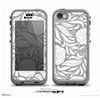 The Gray Vector Floral Skin for the iPhone 5c nüüd LifeProof Case