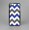 The Gray & Navy Blue Chevron Skin-Sert Case for the Apple iPhone 6 Plus