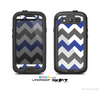 The Gray & Navy Blue Chevron Skin For The Samsung Galaxy S3 LifeProof Case