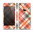 The Gray & Orange Plaid Layered Pattern V5 Skin Set for the Apple iPhone 5s