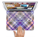 "The Gray & Purple Plaid Layered Pattern V5 Skin Set for the Apple MacBook Pro 15"" with Retina Display"