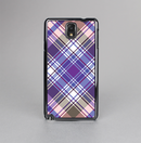The Gray & Purple Plaid Layered Pattern V5 Skin-Sert Case for the Samsung Galaxy Note 3