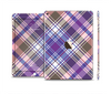 The Gray & Purple Plaid Layered Pattern V5 Skin Set for the Apple iPad Pro