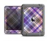 The Gray & Purple Plaid Layered Pattern V5 Apple iPad Air LifeProof Nuud Case Skin Set