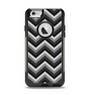 The Gray Toned Layered CHevron Pattern Apple iPhone 6 Otterbox Commuter Case Skin Set