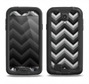 The Gray Toned Layered CHevron Pattern Samsung Galaxy S4 LifeProof Nuud Case Skin Set