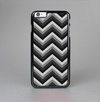 The Gray Toned Layered CHevron Pattern Skin-Sert Case for the Apple iPhone 6 Plus