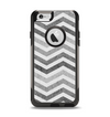 The Gray Toned Wide Vintage Chevron Pattern Apple iPhone 6 Otterbox Commuter Case Skin Set
