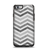 The Gray Toned Wide Vintage Chevron Pattern Apple iPhone 6 Otterbox Symmetry Case Skin Set
